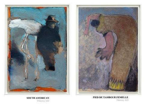 2 peintures présentés jeudi 25-11-16 à Bologne. Galleria FARINI Concept.
