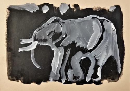 LE PUZZLE DE L'ELEPHANT N'EST PAS BIEN ASSEMBLE